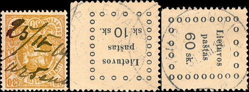 Kursenai 1919 MS cancel