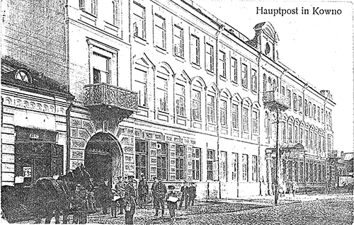 Kaunas post office 1918-1919