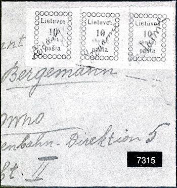 Lithuania 1919 Kedainiai MS