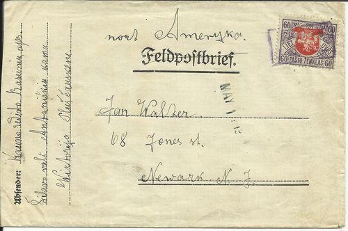 Lithuania 1924 Siluva box cancel
