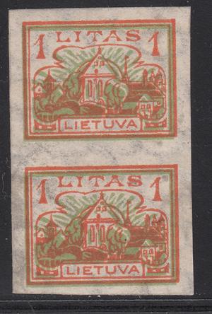 Lithuania 1923 Mi 193U pair