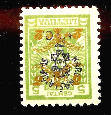 Lithuania 1926 Mi 248 double inverted overprint
