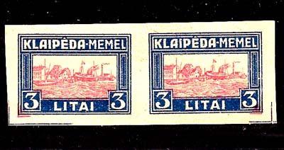 Lithuania 1923 Klaipeda Harbor Scene assay