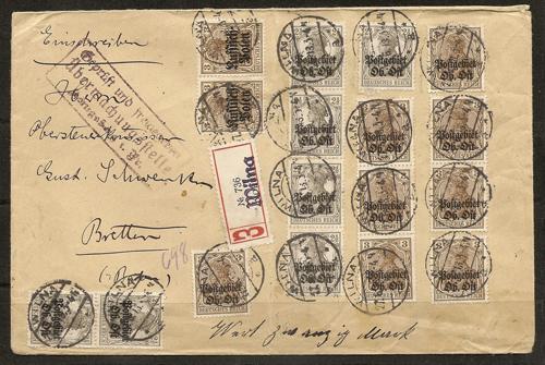 Wilna 1918 gothic registration catchet Wilna