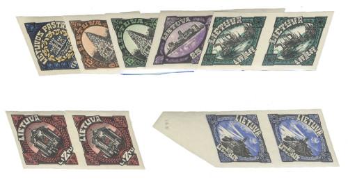 LT-1923-Klaipeda-Memel-imperforate-pairs-Lot-2182