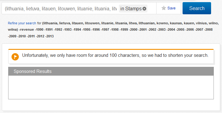 ebay limits search to 100 characters