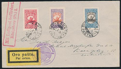 Lithuania 1926 Kaunas Konisgberg by Deruluft