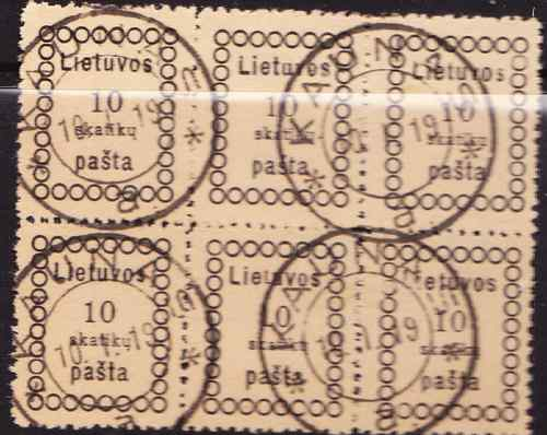 Lithuania 1918 block x6