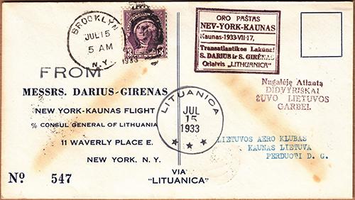 LT 1933 Darius-Girenas No 547