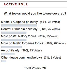 LithuanianPhilately poll-1 results
