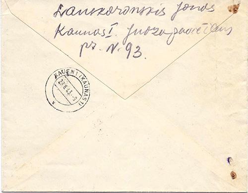 Ostland-1943 Kaunas-3 provisional registration