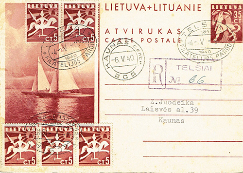 LT-1940 Telsiai philatelic exhibition forgery