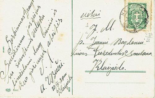 Pre-war warship Smetona crew mail