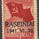 WWII Raseiniai local issue German occupation forgeries