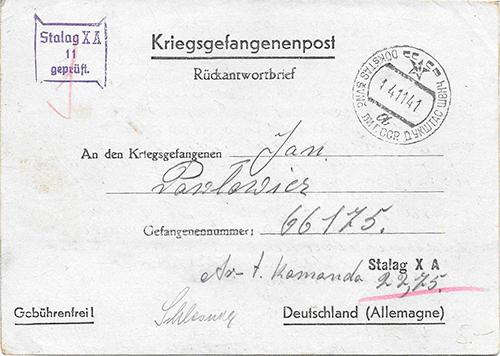 Dukstas Zar Soviet postmark