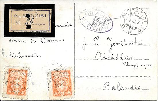 Alsedziai 1931