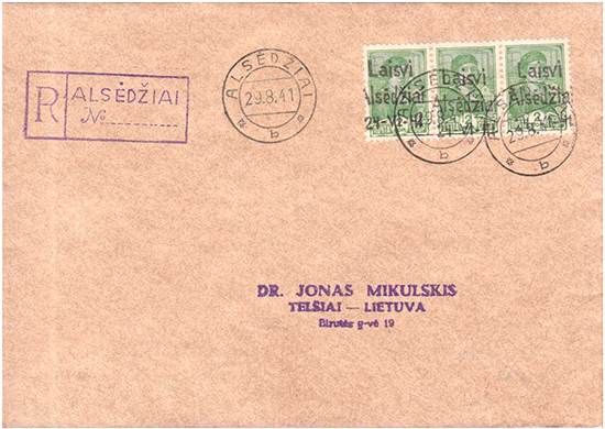 Alsedziai fake cover 1941
